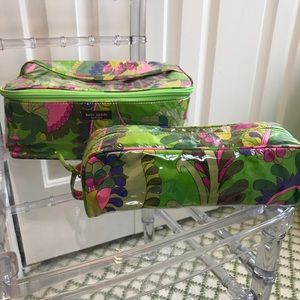 Kate Spade cosmetic caddy and make up bag